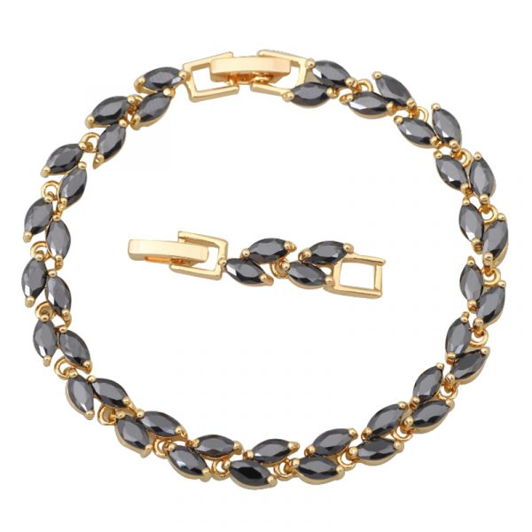 New-Statement-Jewelr-18k-Yellow-Gold-Bracelet-Onyx-Bracelets-for-teen-girls-fashion-jewelry-20cm-7-1