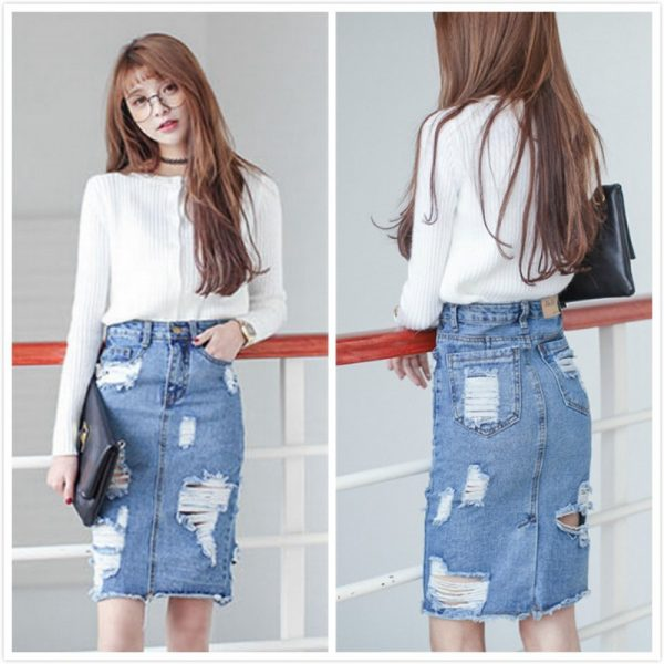Plus-Size-Denim-Skirt-Women-2016-Autumn-Winter-Vintage-Ripped-Denim-Skirt-Slim-Tight-Office-Skirt-1