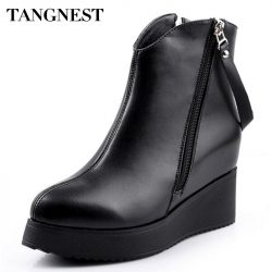 Tangnest-2016-Spring-New-Women-s-Ankle-Boot-PU-Leather-Increased-Height-Fashion-Boots-Pointed-Toe-1