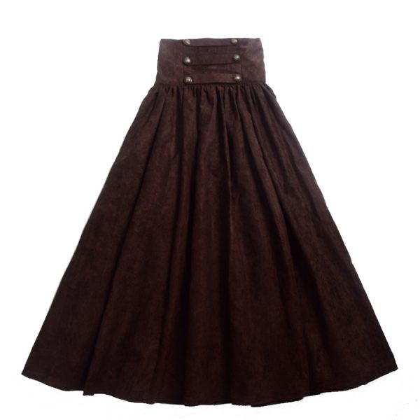 Vintage-Steampunk-Skirt-Victorian-Gothic-High-Waist-Long-Walking-Slim-Skirt-Black-Blue-Brown-Purple-Women-1