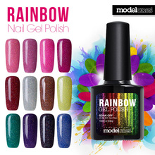 Rainbow Nail Gel Polish Neon
