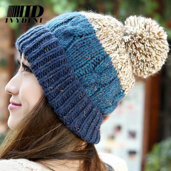 2015-Cotton-Casual-Winter-Knitted-Hats-For-Women-Beanies-Infant-Crochet-Hat-Female-Gorro-Skullies-Women-1