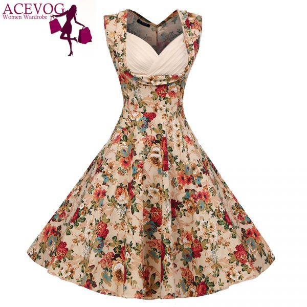ACEVOG-Vintage-Elegant-Women-Dress-V-Neck-High-Waist-Big-Bust-Design-Sleeveless-Casual-Patchwork-Party-1
