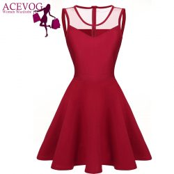 ACEVOG-Women-elegant-dresses-Summer-vestidos-2016-Sexy-Lady-4-colors-Mesh-High-Waist-Pleated-Casual-1