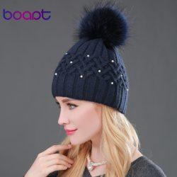 BOAPT-Pearl-Natural-Raccoon-Fur-Women-s-Winter-Hats-Girls-Knitted-Wool-Rabbit-Braid-Caps-Female-1