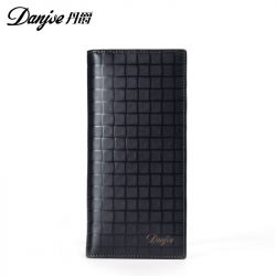 DANJUE-Mens-Wallets-Genuine-Leather-Black-Bifold-Real-Leather-Wallet-Long-Pocket-Credit-ID-Card-Slots-1