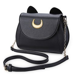 Kawaii-Summer-Sailor-Moon-Ladies-Handbag-Black-Luna-Cat-Shape-Chain-Shoulder-Bag-PU-Leather-Women-1