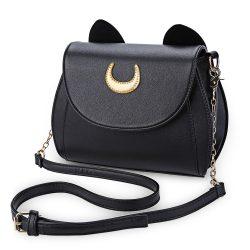 Kawaii-Summer-Sailor-Moon-Ladies-Handbag-Black-Luna-Cat-Shape-Chain-Shoulder-Bag-PU-Leather-Women-1