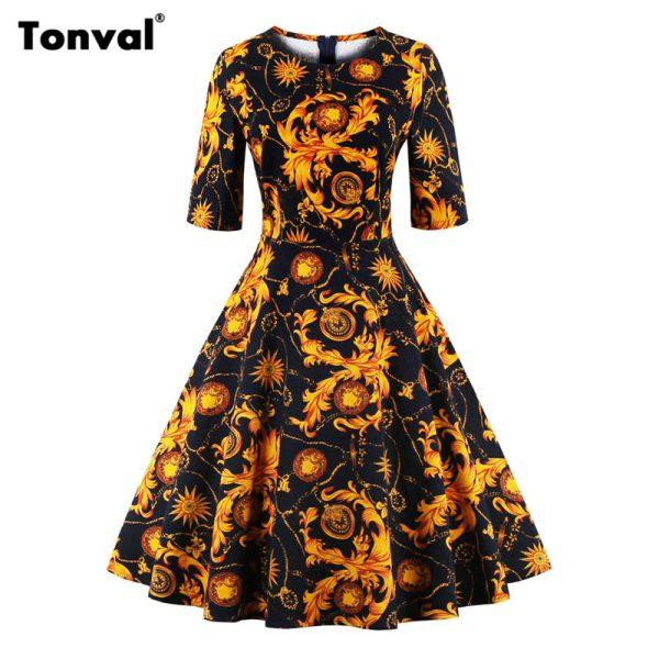 Платья в стиле осень
