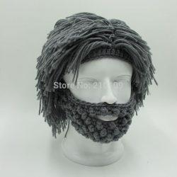 Wig-Beard-Hats-Hobo-Mad-Scientist-Rasta-Caveman-Handmade-Knit-Warm-Winter-Caps-Men-Women-Halloween-1