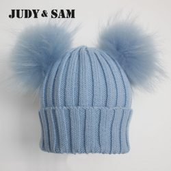 Winter-Beanie-Hat-with-Big-Fluffy-Raccoon-Fur-Pom-Poms-1-1