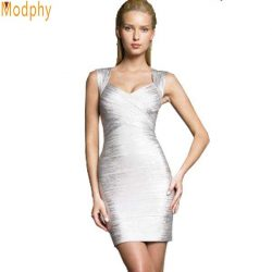 Women-gold-silver-foil-print-bandage-dress-new-fashion-sexy-backless-lady-tank-v-neck-mini-1