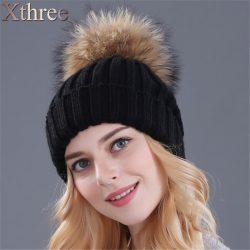 Xthree-mink-and-fox-fur-ball-cap-pom-poms-winter-hat-for-women-girl-s-hat-1