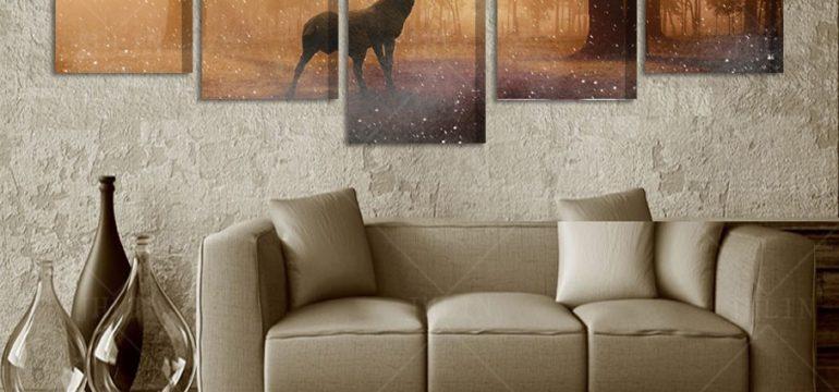 Модульные картины в домашнем интерьере заказанные на алиэкспресс