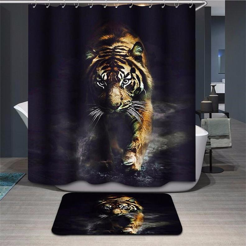 Штора с тигром для душа на али экспресс заказать