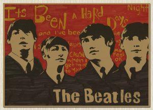 Постер группы Битлз с алиэкспресс