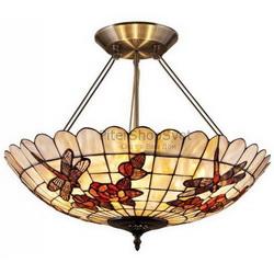 потолочный светильник в стиле тиффани