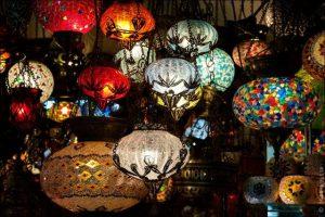 потолочный светильник в восточном стиле